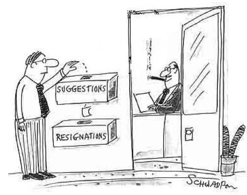 Suggestion Box Cartoon -